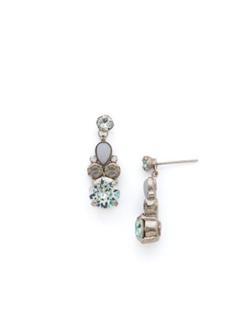 Sorrelli PEBBLE BLUE Crystal Earrings