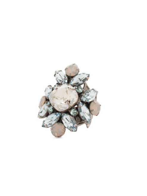 SORRELLI PEBBLE BLUE Crystal Ring RCR62ASPEB
