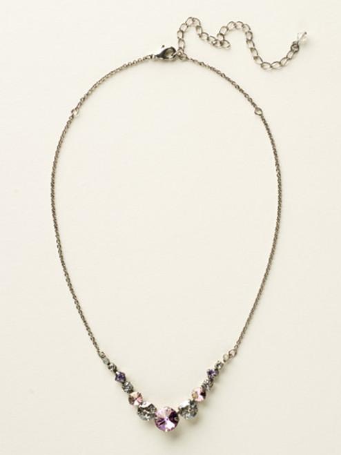 SORRELLI Purple Lotus Crystal Necklace NCQ14ASPUL