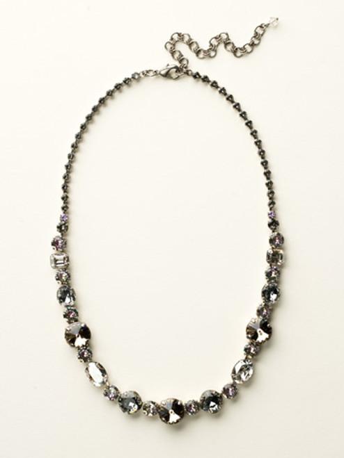 Sorrelli Purple Lotus Crystal Necklace