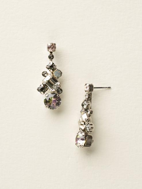 Sorrelli Purple Lotus Crystal Earrings