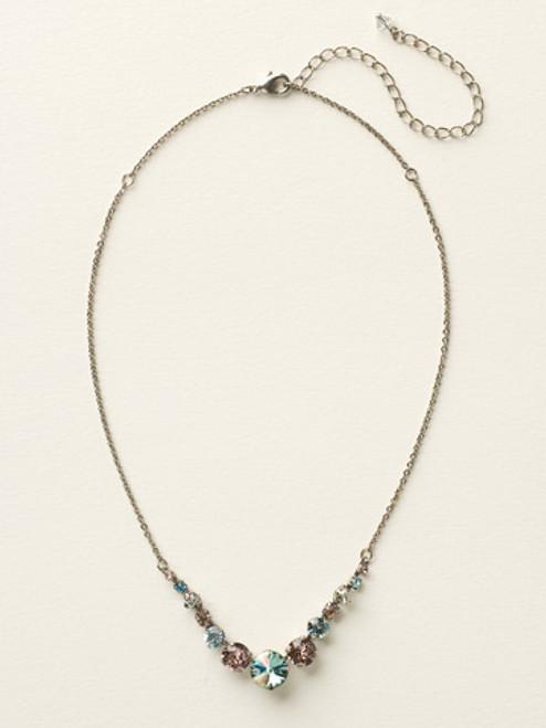 **SPECIAL ORDER**  Sorrelli Sky Blue Peach Crystal  Necklace~ NCQ14ASSKY