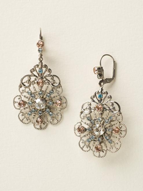 Sorrelli Sky Blue Peach Earrings