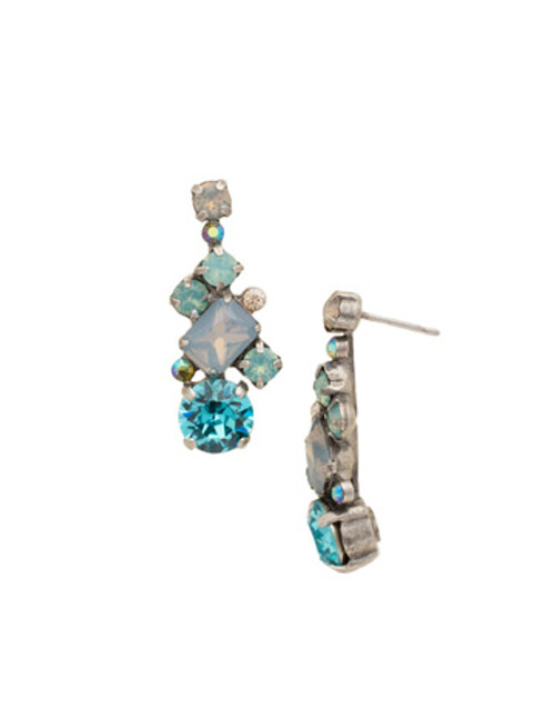 SORRELLI Teal Textile Earrings ECF6ASTT