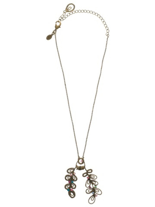 Sorrelli Lollipop Crystal Necklace  NCA5AGLP