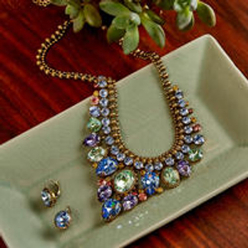 Sorrelli Bohemian Bright - Protea Crystal Statement Necklace~ NDQ3AGBHB