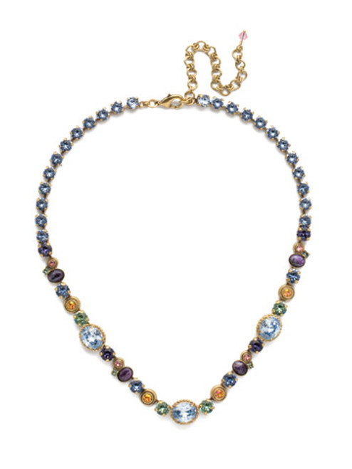 Sorrelli Bohemian  Bright  Crystal Necklace~NEA18AGBHB