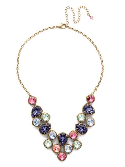 Sorrelli Bohemian Bright - Armina Crystal Necklace~ NEA43AGBHB