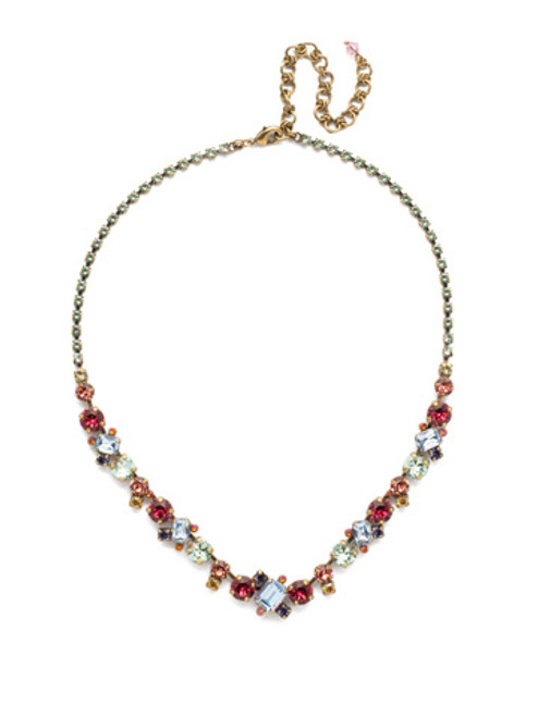 Sorrelli Bohemian Bright - Sophisticated Crystal Tennis Necklace~ NDK17AGBHB