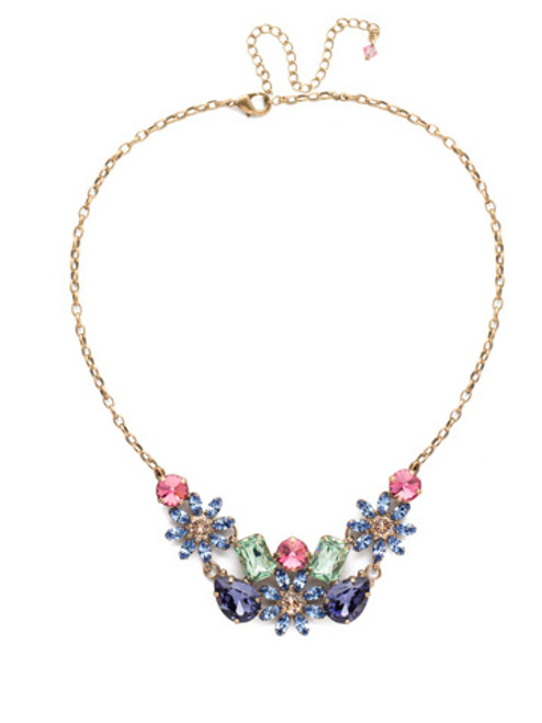 Sorrelli Bohemian Bright- Alessia Crystal Statement Necklace~ NEA46AGBHB