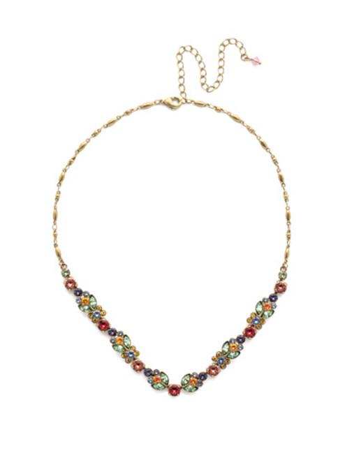Sorrelli Bohemian Bright -Terina Crystal Tennis Necklace~ NEA2AGBHB