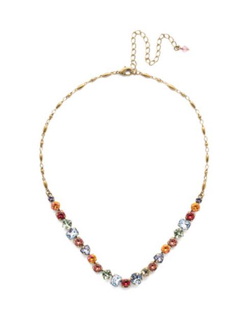 Sorrelli Bohemian Bright Crystal Necklace~NDX14AGBHB