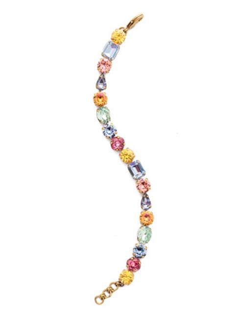 Sorrelli Bohemian Bright- Crystal Clover Tennis Bracelet~ BDQ13AGBHB