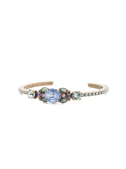 Sorrelli Bohemian Bright- Mariella Crystal Cuff Bracelet~ BEA19AGBHB