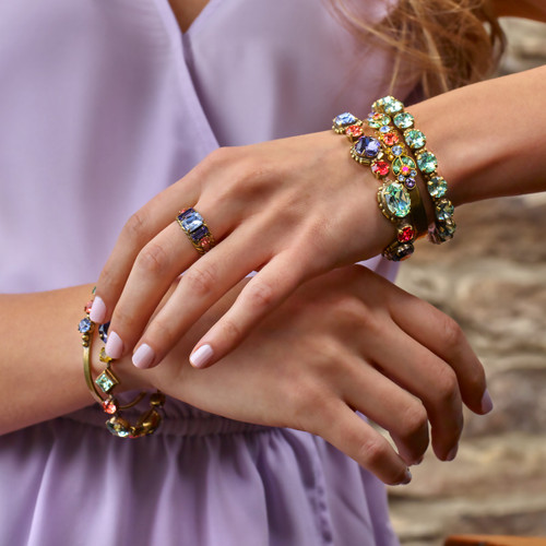 Sorrelli Bohemian Bright - Pasquelina Crystal Tennis Bracelet~ BEA16AGBHB