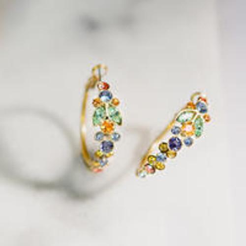 Sorrelli Bohemian Bright- Petronilla Crystal Hoop Earrings~ EEA6AGBHB