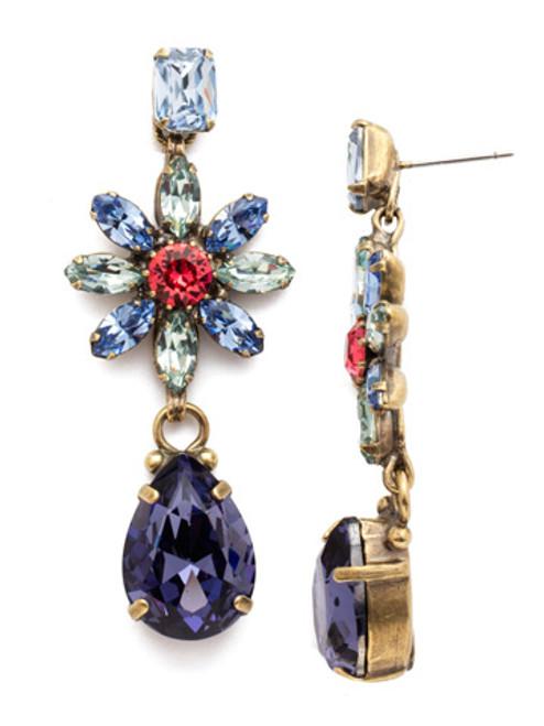 Sorrelli Bohemian Bright- Celestina Crystal Statement Earrings~ EEA15AGBHB