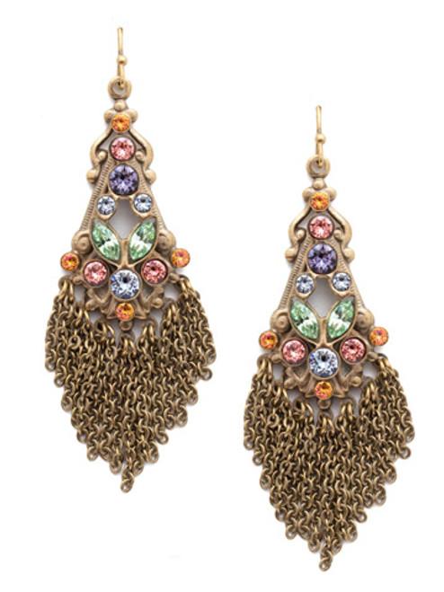 Sorrelli Bohemian Bright - Florentina Crystal Statement Drop Earrings~ EEA24AGBHB