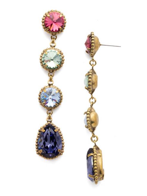 Full View-  Sorrelli Bohemian Bright - Louisa Crystal Statement Earrings~ EEA35AGBHB