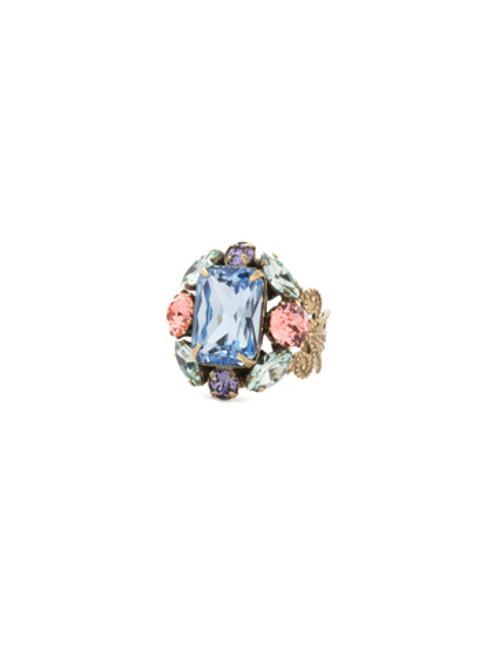 Sorrelli Bohemian Bright- Zelmira Statement Crystal Rings~ REA7AGBHB