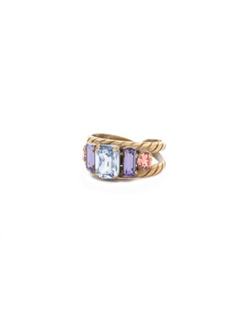Sorrelli Bohemian Bright- Petite Geo Crystal Rings~ RDG78AGBHB