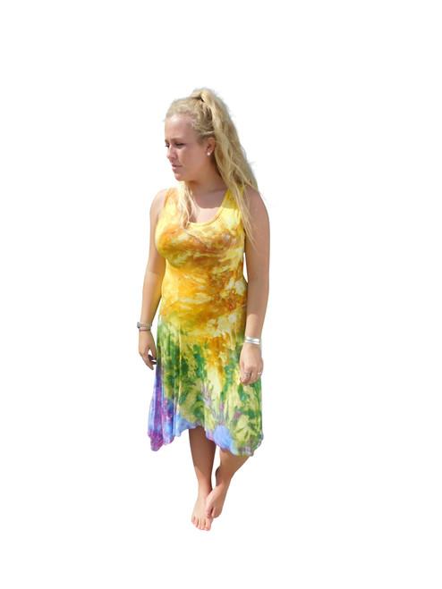 Dye Asymmetrical Sleeveless Dress