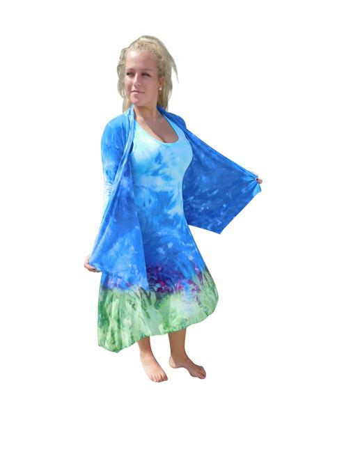 Asymmetrical Sleeveless Dress Jacket by Martha