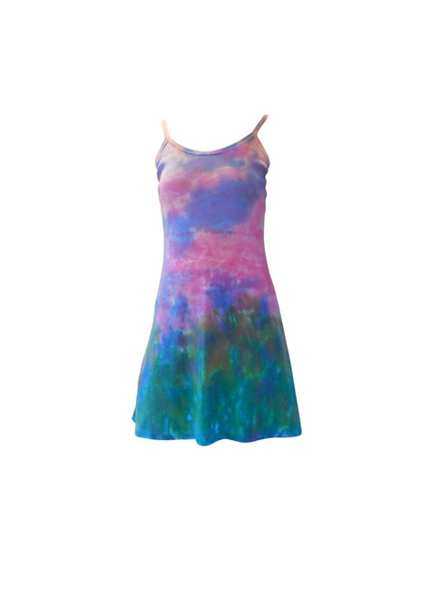 Hand Painted Cotton Mini Dress By Franklin Street Studio