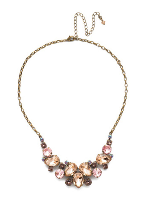 Sorrelli Beach Comber Crystal Necklace ndj14agbcm