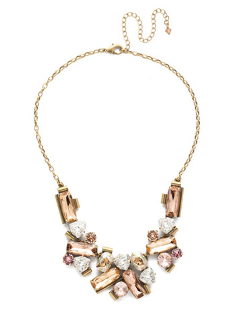 Sorrelli Beach Comber Crystal Necklace nea44agbcm