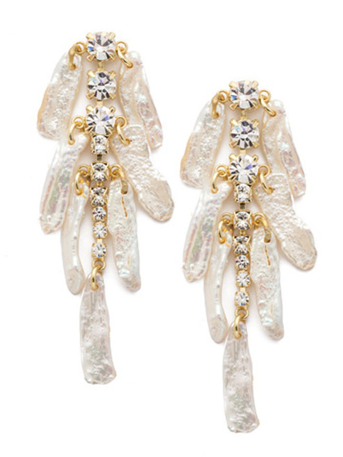 Sorrelli Polished Pearl Crystal Earrings eec7bgplp