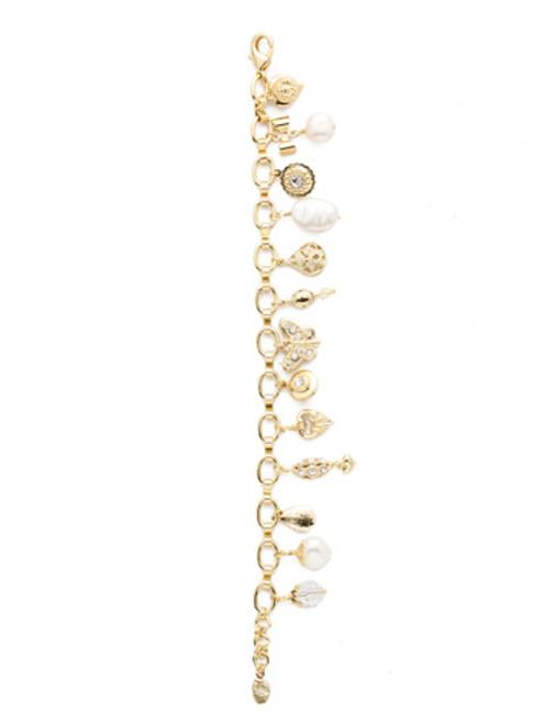 Sorrelli Polished Pearl Crystal Bracelet
