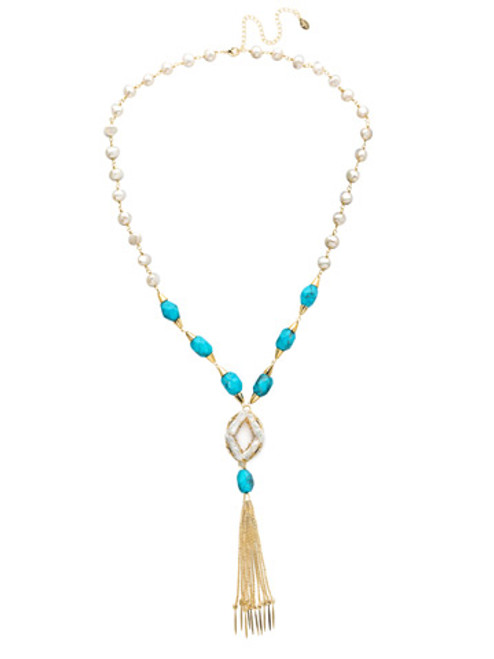 Sorrelli Polished Pearl Crystal Necklace