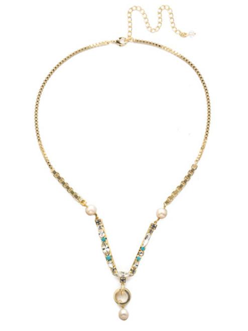 Sorrelli Polished Pearl Necklace~NEC6BGPLP