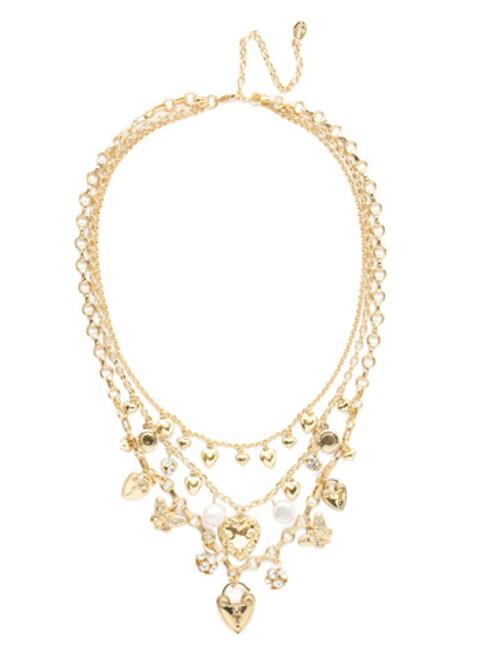 Sorrelli Polished Pearl Necklace NEC28BGPLP