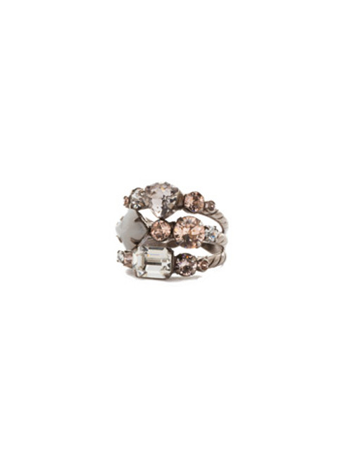 Sorrelli SILKY CLOUDS- Sedge Stacked Ring~ RDX1ASSCLRing