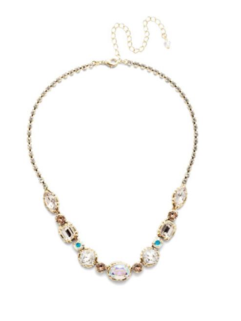 Sorrelli SILKY CLOUDS- Cardoon Tennis Necklace~ NDX7BGSCL