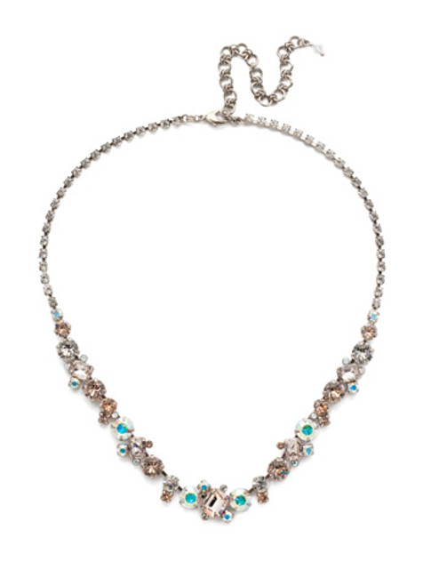 Sorrelli SILKY CLOUDS- Sophisticated Tennis Necklace~ NDK17ASSCL