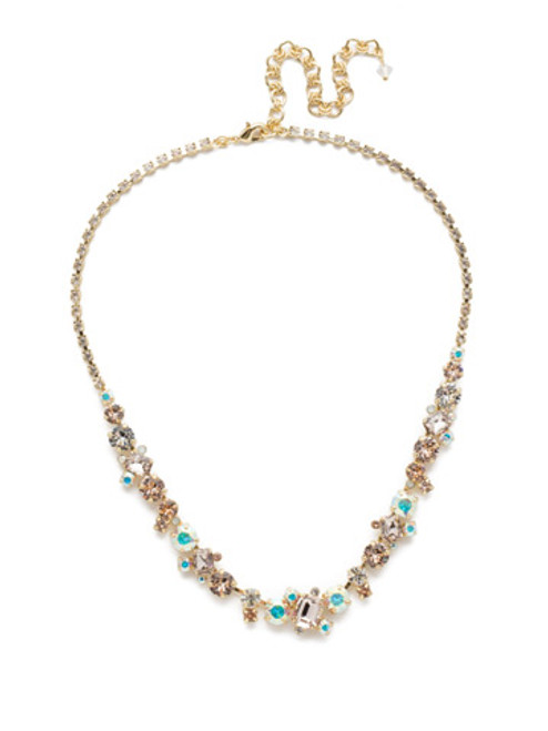 Sorrelli SILKY CLOUDS- Sophisticated Tennis Necklace~ NDK17BGSCL