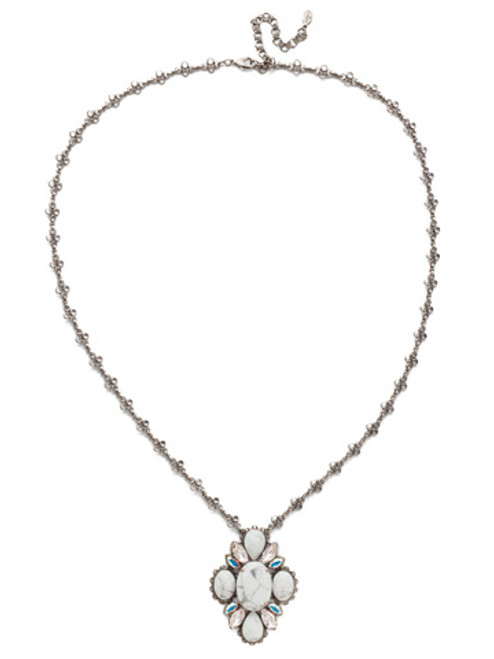 Sorrelli SILKY CLOUD- Genevieve Long Strand Necklace~ NEE29ASSCL