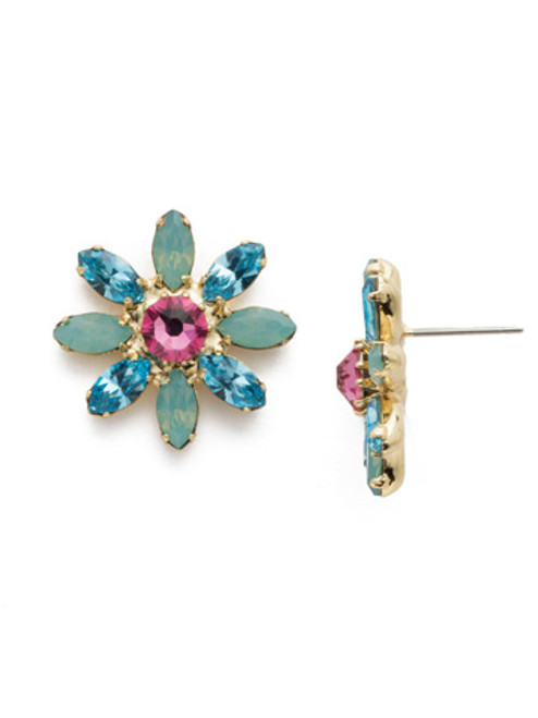 Bright Gold Pop Crystal Earrings