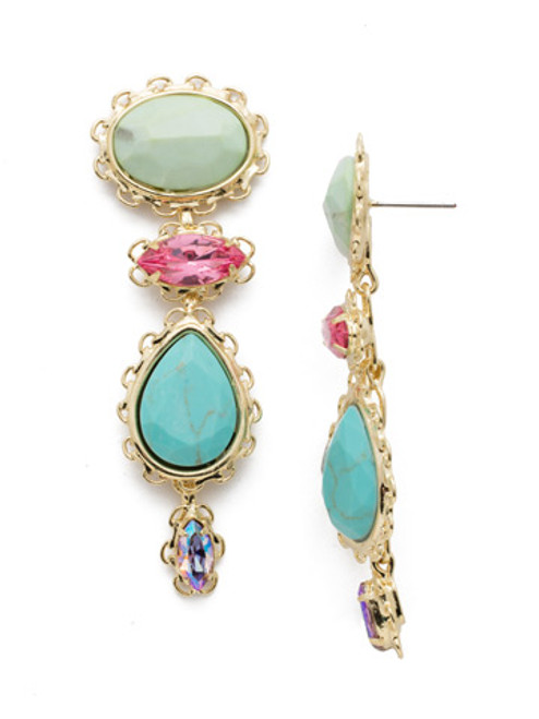 Sorrelli Candy Pop Crystal Earrings eee16bgcpo