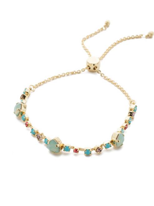 Bright Gold  Pop Crystal Slider Bracelet