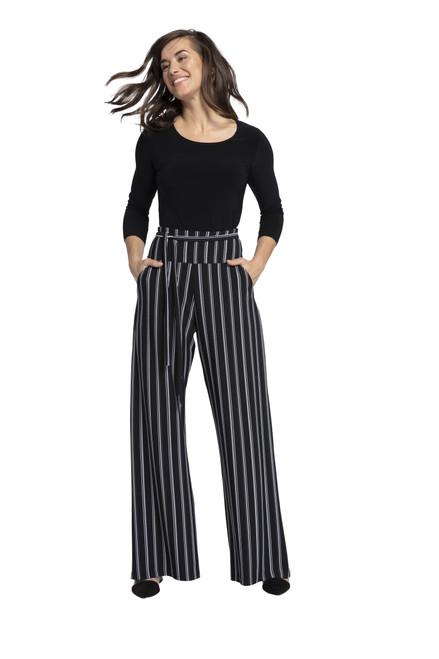 Wide Leg Trouser Stripe by  Sympli~27195CB