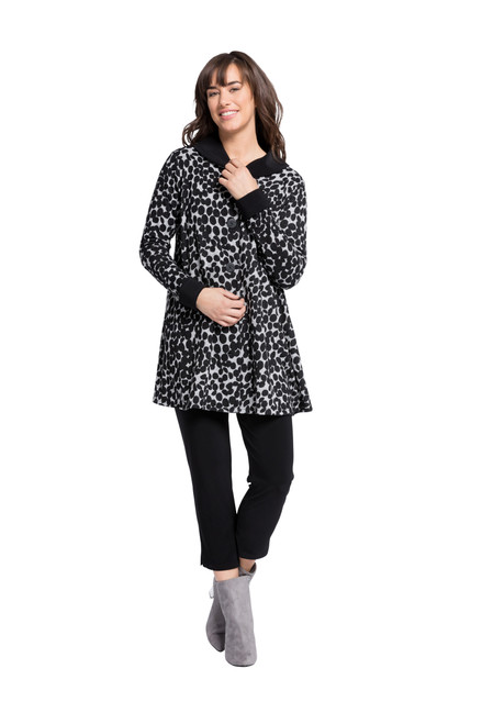 On The Dot Swing Coat by Sympli K7521D IS
