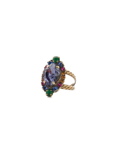 Sorrelli Game of Jewel Tones Eustoma Crystal Ring