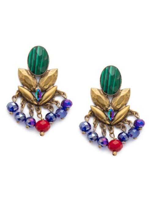 Sorrelli Game of Jewel Tones Viserion Crystal Drop Earrings EEF11AGGOT