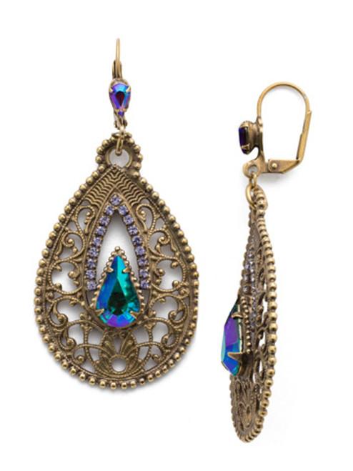 Sorrelli Game of Jewel Tones Fionna  Crystal Drop Earrings~EEE5AGGOT