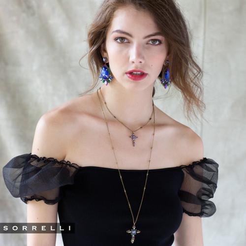 Sorrelli Game of Jewel Tones Aerys  Crystal Drop Earrings~EEF52AGGOT