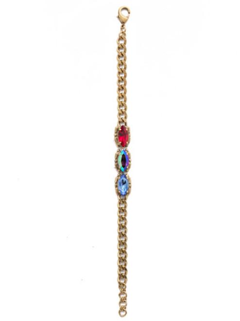 Sorrelli Game of Jewel Tones Yarra  Crystal  Bracelet~BEF5AGGOT